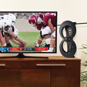 Antennas Direct Clearstream 2MAX HDTV Antenna in Canada indoors by your TV