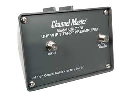 Channel Master 7777 CM-7777 Preamplifier preamp to amp Antennas Direct 91XG HD TV Antenna